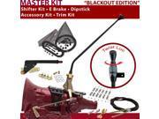 American Shifter Company ASCS1B6G41J1L TH400 Shifter Kit 23 E Brake Cable Clamp Trim Kit Dipstick For DCEFF