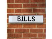 BILLS NFL Buffalo Bills White Stamped Street Sign Mancave Wall Art plate embossed custom drive traffic sign personalized circle avenue reflective dr pressed met