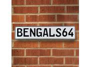 BENGALS64 NFL Cincinnati Bengals White Stamped Street Sign Mancave Wall Art reflective cove garage license custom ave aluminum man cave ln, traffic parkway cour
