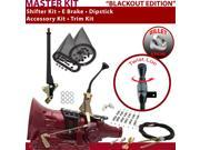 700R4 Shifter Kit 8 E Brake Cable Clamp Clevis Trim Kit Dipstick For E2178 g series vans pickups fleetwood buick 3/4 ton chevy brougham blazers surburban corvet