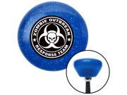 American Shifter Company ASCSNX171277 Black Zombie Outbreak Response Blue Retro Metal Flake Shift Knob M16 x 1.5 parts