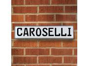 Vintage parts USA VPAY12C05 Caroselli White Stamped Aluminum Street Sign Mancave Wall Art