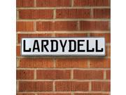 Vintage parts USA VPAY20882 Lardydell White Stamped Aluminum Street Sign Mancave Wall Art