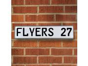 Vintage parts USA VPAY1ED0 FLYERS 27 NHL Philadelphia Flyers White Stamped Street Sign Mancave Wall Art