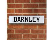 Vintage parts USA VPAY15813 Darnley White Stamped Aluminum Street Sign Mancave Wall Art