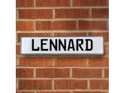 Vintage parts USA VPAY20CFA Lennard White Stamped Aluminum Street Sign Mancave Wall Art