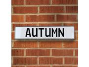 Vintage parts USA VPAYB53C Autumn White Stamped Aluminum Street Sign Mancave Wall Art