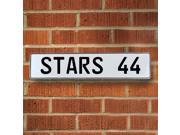 Vintage parts USA VPAY201B STARS 44 NHL Dallas Stars White Stamped Street Sign Mancave Wall Art
