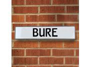 Vintage parts USA VPAYE99F Bure White Stamped Aluminum Street Sign Mancave Wall Art