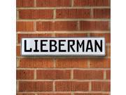 Vintage parts USA VPAY20ED1 Lieberman White Stamped Aluminum Street Sign Mancave Wall Art