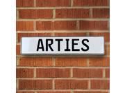 Vintage parts USA VPAYBE8D Arties White Stamped Aluminum Street Sign Mancave Wall Art