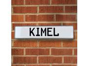 Vintage parts USA VPAY1FB1A Kimel White Stamped Aluminum Street Sign Mancave Wall Art