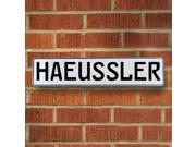 Vintage parts USA VPAY1B273 Haeussler White Stamped Aluminum Street Sign Mancave Wall Art
