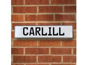 Vintage parts USA VPAY12BAF Carlill White Stamped Aluminum Street Sign Mancave Wall Art