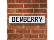 Vintage parts USA VPAY15EE1 Dewberry White Stamped Aluminum Street Sign Mancave Wall Art