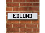 Vintage parts USA VPAY168DE Edlund White Stamped Aluminum Street Sign Mancave Wall Art