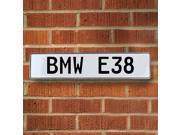 Vintage parts USA VPAY2347 BMW E38 White Stamped Street Sign Mancave Wall Art