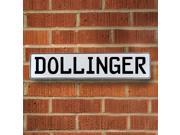 Vintage parts USA VPAY16238 Dollinger White Stamped Aluminum Street Sign Mancave Wall Art