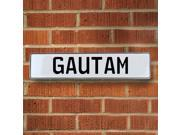 Vintage parts USA VPAY1A47C Gautam White Stamped Aluminum Street Sign Mancave Wall Art