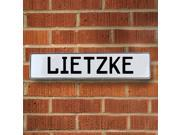 Vintage parts USA VPAY20F02 Lietzke White Stamped Aluminum Street Sign Mancave Wall Art
