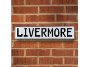Vintage parts USA VPAY210C8 Livermore White Stamped Aluminum Street Sign Mancave Wall Art