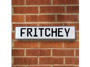 Vintage parts USA VPAY17829 Fritchey White Stamped Aluminum Street Sign Mancave Wall Art