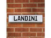 Vintage parts USA VPAY2074E Landini White Stamped Aluminum Street Sign Mancave Wall Art