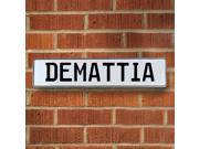 Vintage parts USA VPAY15C1E Demattia White Stamped Aluminum Street Sign Mancave Wall Art