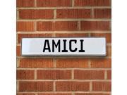 Vintage parts USA VPAYBAB9 Amici White Stamped Aluminum Street Sign Mancave Wall Art