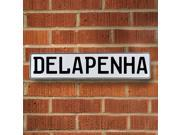 Vintage parts USA VPAY15B07 Delapenha White Stamped Aluminum Street Sign Mancave Wall Art