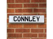 Vintage parts USA VPAY13659 Connley White Stamped Aluminum Street Sign Mancave Wall Art