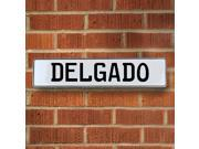 Vintage parts USA VPAY15B59 Delgado White Stamped Aluminum Street Sign Mancave Wall Art