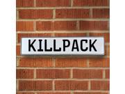 Vintage parts USA VPAY1FAF4 Killpack White Stamped Aluminum Street Sign Mancave Wall Art