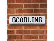 Vintage parts USA VPAY1AB33 Goodling White Stamped Aluminum Street Sign Mancave Wall Art