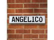 Vintage parts USA VPAYBBA8 Angelico White Stamped Aluminum Street Sign Mancave Wall Art