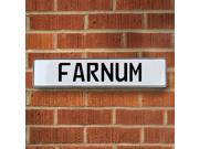 Vintage parts USA VPAY16F80 Farnum White Stamped Aluminum Street Sign Mancave Wall Art