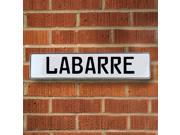 Vintage parts USA VPAY204F6 Labarre White Stamped Aluminum Street Sign Mancave Wall Art