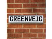 Vintage parts USA VPAY1ADCD Greenweig White Stamped Aluminum Street Sign Mancave Wall Art