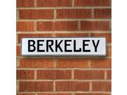 Vintage parts USA VPAYD8C1 Berkeley White Stamped Aluminum Street Sign Mancave Wall Art