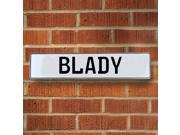 Vintage parts USA VPAYDCA1 Blady White Stamped Aluminum Street Sign Mancave Wall Art