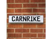 Vintage parts USA VPAY12BF8 Carnrike White Stamped Aluminum Street Sign Mancave Wall Art