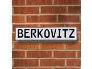 Vintage parts USA VPAYD8CB Berkovitz White Stamped Aluminum Street Sign Mancave Wall Art