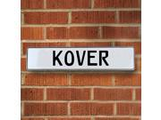 Vintage parts USA VPAY20111 Kover White Stamped Aluminum Street Sign Mancave Wall Art
