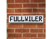 Vintage parts USA VPAY17902 Fullwiler White Stamped Aluminum Street Sign Mancave Wall Art