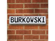 Vintage parts USA VPAYE9FF Burkowski White Stamped Aluminum Street Sign Mancave Wall Art