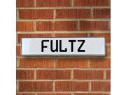 Vintage parts USA VPAY1790D Fultz White Stamped Aluminum Street Sign Mancave Wall Art