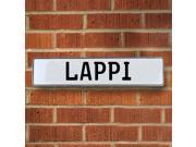 Vintage parts USA VPAY20855 Lappi White Stamped Aluminum Street Sign Mancave Wall Art