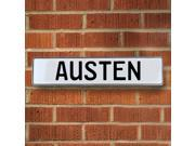 Vintage parts USA VPAYC020 Austen White Stamped Aluminum Street Sign Mancave Wall Art
