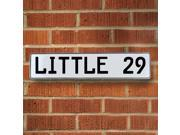 Vintage parts USA VPAY9306 LITTLE 29 White Stamped Aluminum Street Sign Mancave Wall Art