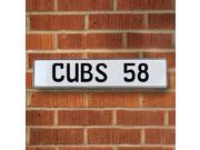 Vintage parts USA VPAY1ACF CUBS 58 MLB Chicago Cubs White Stamped Street Sign Mancave Wall Art
